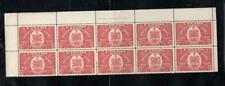 CANADA # E8 VF-MNH PLATE BLOCK OF 10 CAT VALUE $825 BUY NOW CHEAP AT 25% CV