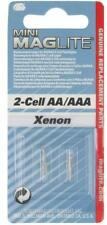 Maglite LM2A001 Xenon 2-cell AA / AAA Mini Bulb Replacement Lamp Genuine 2 Pack