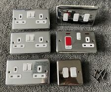 Job Lot Chrome Electrical Sockets Modern Electric Socket Home & Kitchen Use