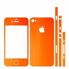 22 FAR. IPHONE 4 FOLIE ORANGE MATT ( AUFKLEBER KLEBER BUMPER COVER HÜLLE SCHALE