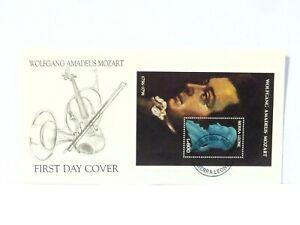 1991 Mozart 200th Death Anniversary Sierra Leone FDC