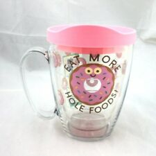 Smiling Donut Tervis 16oz Mug Eat More Hole Foods New W Pink Lid Whole Doughnut