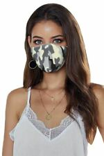 Face Mask Camo Print With 5PCS Filters Breathable Washable Ships from USA