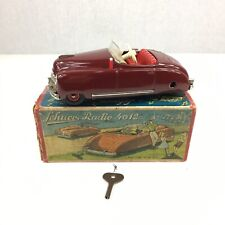 Vintage Schuco Radio 4012 Maroon Working US Zone Germany 15.5cm Long