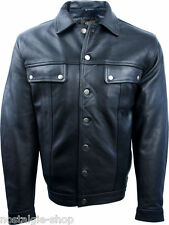 50er 60er rock 'n roll veste en cuir rockabilly old school biker veste Aniline Cuir