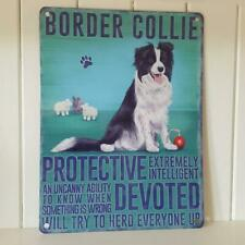 Border Collie Working Sheepdog Metal Wall Sign