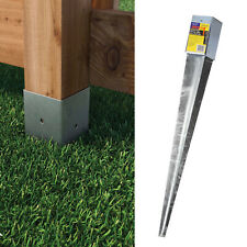 More details for drive in fence post support spike wedge grip galvanised
