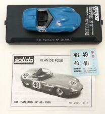 Solido 1/43 Scale - 2452 DB Panhard #48 1960 Blue diecast model car