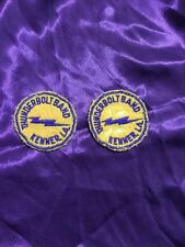 2 VINTAGE S.J Barbre / Kenner Middle School THUNDERBOLT BAND Patches Louisiana