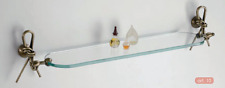 Bathroom Accessories Shelf Glass Classic Brass Wc Made IN Italy