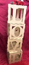 LOVE Cubes Blocks Wedding Ideal for filling with balloons etc