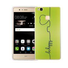 Funda para móvil Huawei P9 Lite Sé Feliz Bolso Verde Carcasa con diseño ligera