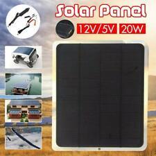 20W 12V USB Flexible Solar Panel Battery Charger Kit Boat Car Power  Supply