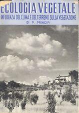 Principi: Ecologia vegetale Influenza del clima e terreno su vegetazione 1955