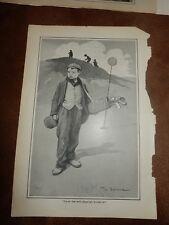 Early Golf Print - Victorian/Edwardian strip cartoonist, painter &  illustrator
