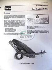 used toro pro sweep 5200 service manual 05137 sl