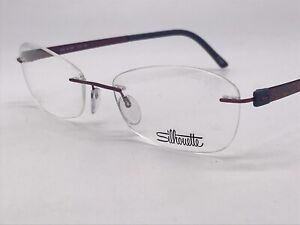 Silhouette 4548 Titan 6061 Purple Blue High End Free Form 53-17 Medium + Case