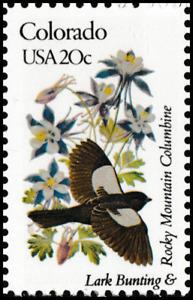 US 1958 or 1958a State Birds & Flowers Colorado 20c single MNH 1982