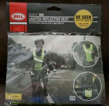 2 -LED Lighted Reflective Safety Vest  Bicycle Riding Jogging Night Vest Bell