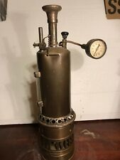 antique Vertical Steam Engine Brass Boiler Toy for repair or parts