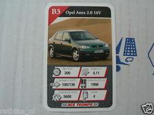 20 AUTOSALON B3 OPEL ASTRA 2.0 16V KWARTET KAART, QUARTETT CARD