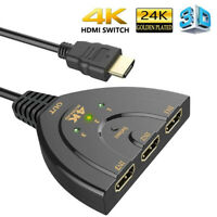 4K 3-Port HDMI Splitter Kabel Multi Switch Switcher Hub Box LCD HDTV PS3 XBOX