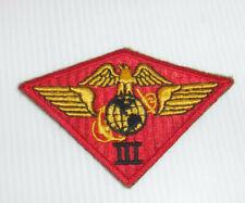 VINTAGE WWII USMC 3RD AIR WING SHOULDER PATCH NICE L@@K