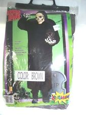 New Adult Horror Scary Man Robe Halloween Costume Evil Death Brown One Size Fits