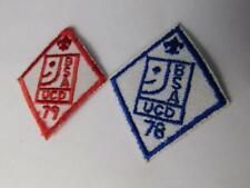 BOY SCOUT  PATCH LOT 2 BSA UCD 1978 1979 VINTAGE UNIFORM BADGE COLLECTOR