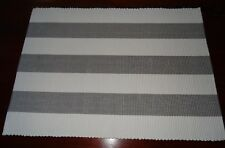 PLACEMATS PACK OF 4 WITH A TOUCH OF HAMPTONS ELEGANCE PALE GREY & WHITE STRIPE