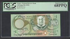 Tonga One Pa'anga ND(1995) P31a Uncirculated Graded 68