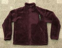 Womens Nike Full Zip Sherpa Training Jacket Burgundy Size Medium M AR7406