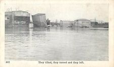 """1937 """"They Tilted, They Turned and left"""", New Albany Flood, Indiana Postcard"""