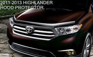 2011-2013 OEM TOYOTA HIGHLANDER HOOD PROTECTOR BUG SHIELD DEFLECTOR NEW