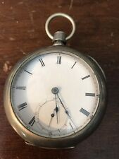 1870 Home Watch Co Waltham 7 Jewel Gr. 1857 18s Pocket Watch Running Key Wind V5