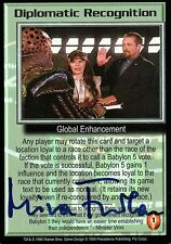 BABYLON 5 CCG Mira Furlan PSI CORPS Diplomatic Recognition AUTOGRAPHED