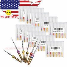 60pc/10Pack 25MM mixed Dental Rotary Taper Files Niti Universal for Endo machine