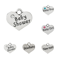 Family & Friends - Baby - Wedding - Special Day - Heart Charm x 4 - 82 Varieties