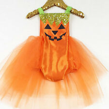 Newborn Baby Girls Halloween Costume Romper Tutu Dress Party Clothes Outfits AU