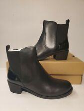 UGG Keller Croco Womens Leather  Ankle Boot Sheepskin Insole Black Size 7.5US
