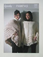 "Wendy Knitting Pattern 5448 Ladies Military Jacket Pampas Super Chunky 32-42/"""