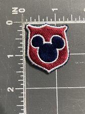 Disneyland Resort Walt Disney World Mickey Mouse Logo Patch Crest Shield Ca Fl