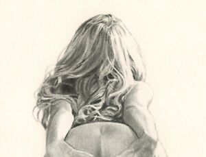 FEMALE NUDE ART- PENCIL DRAWING ART PRINT LIMITED EDITION SEXY EROTIC ART