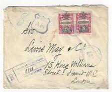 1909 San Salvador El Salvador Registry AR to London #356, #359, #363 US Sea Post