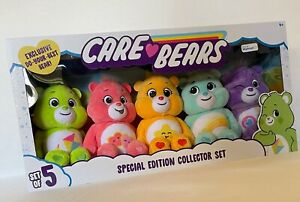 """Care Bears 2021 Special Edition Collector Set of 5 9"""" Plush Do-Your-Best Bear"""