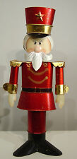 Zinnsoldat 34cm hoch,  Metall    Weihnachtsdekoration