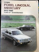 Clymer A254 Tune-Up/ Mentainance: Ford, Lincoln, Mercury 1972-1985 (1985, PB
