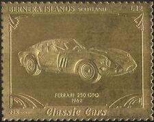 Bernera (L) 22K GOLD/Ferrari 250 GTO /Vintage Car/Motoring/Transport 1v (s6048a)