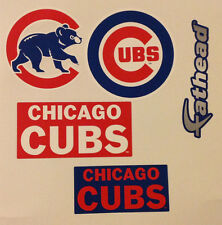 "Chicago Cubs FATHEAD Lot/4 Team Graphics (4"" - 5.25"") Primary, Alternate + MLB"