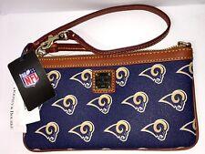 Dooney & Bourke La Rams NFL Football Los Angeles Slim Wristlet Purse Clutch